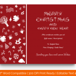 Christmas Gift Certificate Template (Red, Printable in Word) p