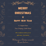 Christmas Gift Certificate Template (Skin, Fillable in Word)