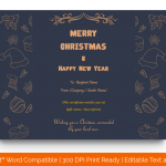 Christmas Gift Certificate Template (Skin, Fillable in Word) p