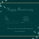 Anniversary Gift Certificates Template (Green, Printable)