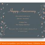 Anniversary Gift Certificates Template (Grey, Editable) p