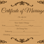 Traditional-Corner-Marriage-Certificate-Template-Brown