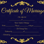 Traditional-Corner-Marriage-Certificate-Template-Navy