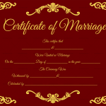Traditional-Corner-Marriage-Certificate-Template-Red