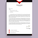 Black and Red HR Letterhead