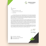 Green and Black HR Letterhead