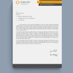 Yellow and Black HR Letterhead