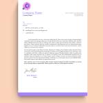 Purple Border Toy Charity Letterhead Template