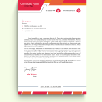 Classic Orange Graphic Design Letterhead Template