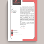 Pink Bordered Graphic Design Letterhead Template