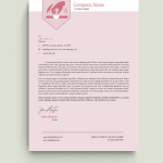 Pink and White Hand Logo Charity Letterhead Template