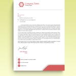 Pink Minimal Box Graphic Design Letterhead Template