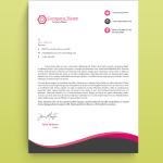 Pink Monochrome Graphic Design Letterhead Template