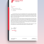 Side Lines Graphic Design Letterhead Template