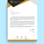 Bold Creative Graphic Design Letterhead Template