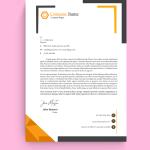 Corner Corporate Graphic Design Letterhead Template