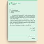 Green Charity Hands Logo Letterhead Template