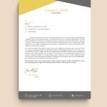 Yellow Creative Graphic Design Letterhead Template
