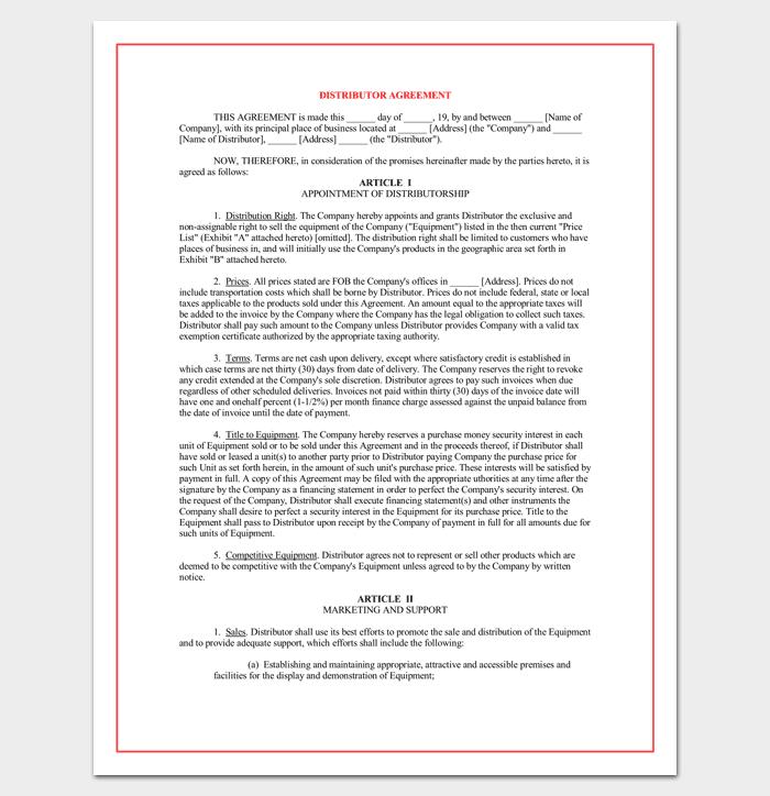Advertising Reseller Agreement