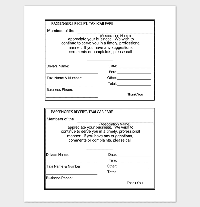 Rent Receipt Template 9 Forms for Word Doc PDF Format – Rental Receipt Form