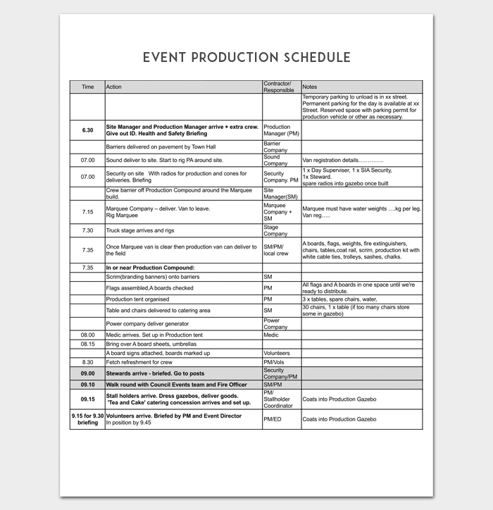 production schedule template production schedule template free templates free production. Black Bedroom Furniture Sets. Home Design Ideas