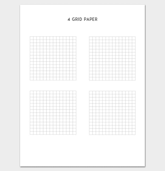 Four Grid Paper 1