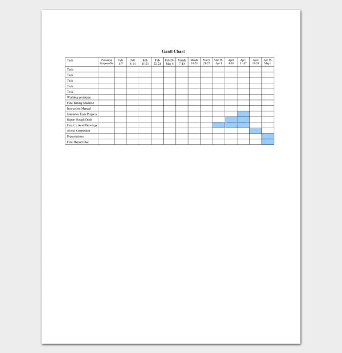 Gantt Chart Format