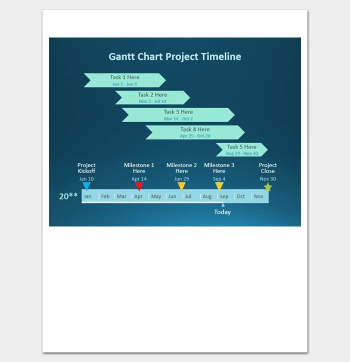 Grantt Chart Project Timeline for PPT