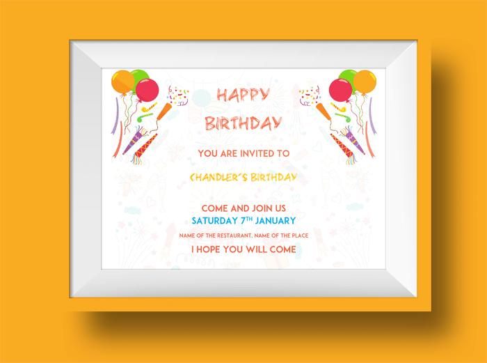 Kids birthday party invitation 1