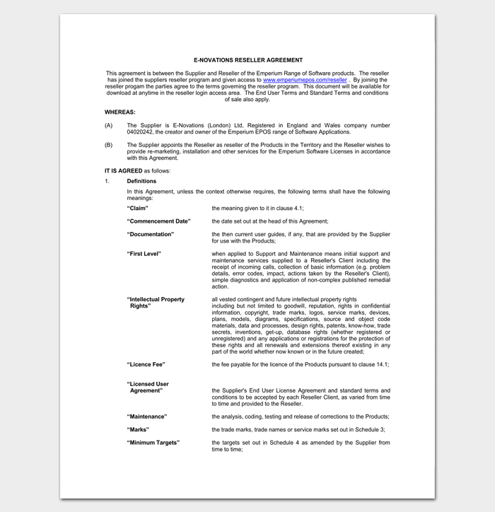 Product Reseller Agreement 1
