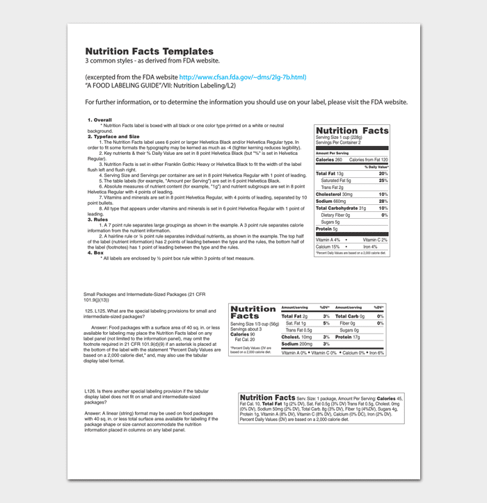 Fact sheet template 6 for word doc pdf format for Supplement facts template