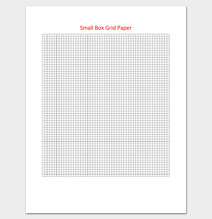 Small Box Grid Paper Template In Excel  Grid Paper Template