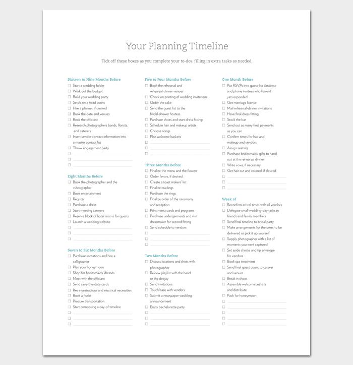 Wedding Planning Timeline: 7+ For Word, Excel, PPT, PDF Format