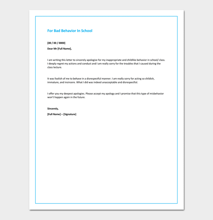 Apology Letter To | Apology Letter For Bad Rude Or Unprofessional Behavior 7 Formats