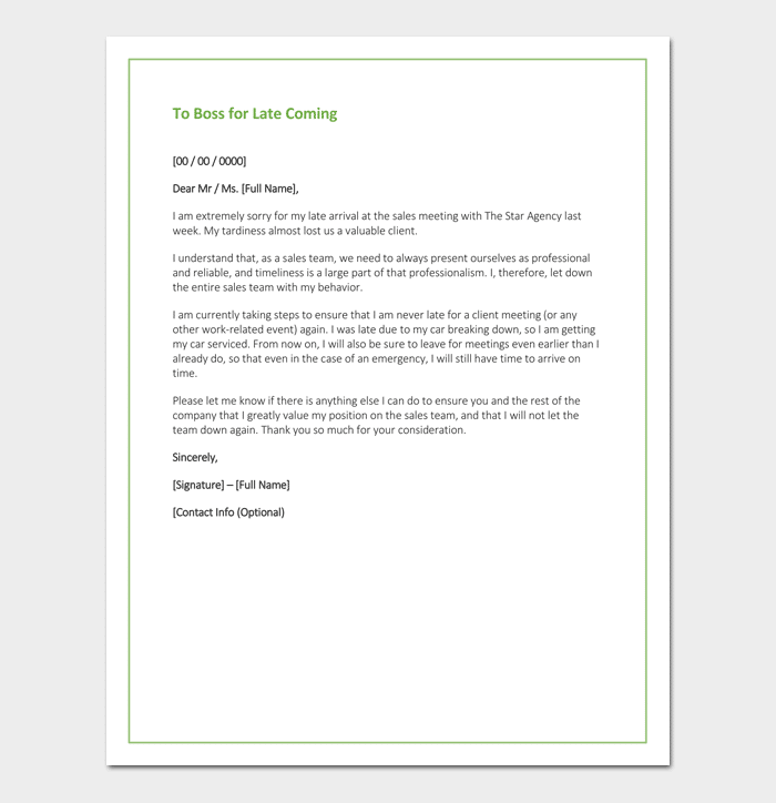 Apology Letter To | Apology Letter Template 33 Samples Examples Formats