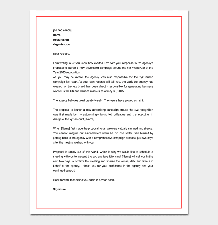 business proposal letter - Business Proposal Letter