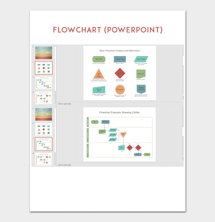 flow chart template - for powerpoint, word & excel, Modern powerpoint