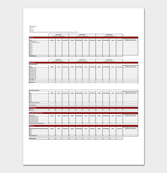 financial report template word excel pdf monthly annual reports