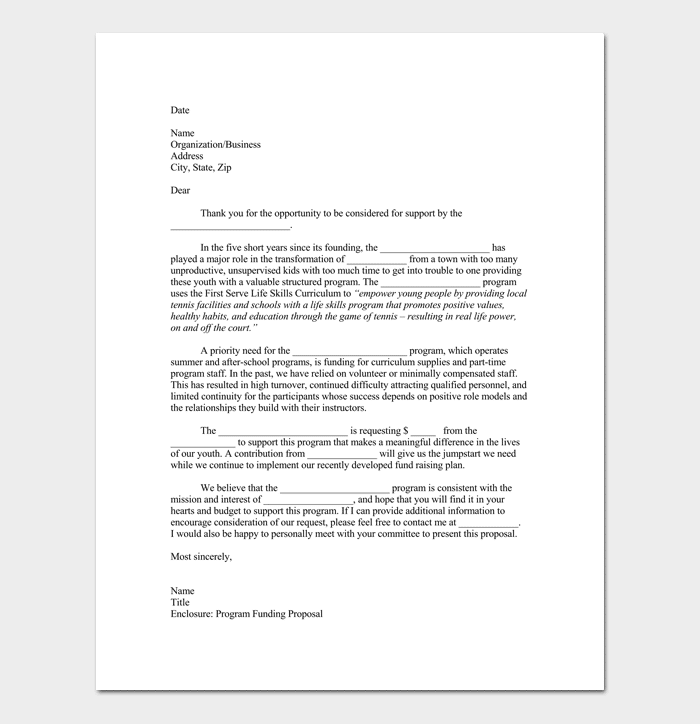 Proposal Letter For Event 1