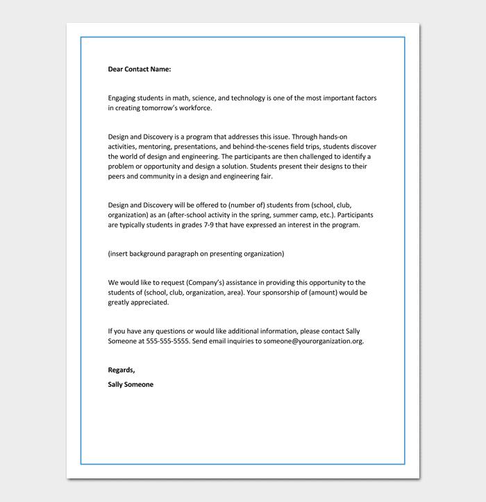 Sample Proposal Letter For School 1