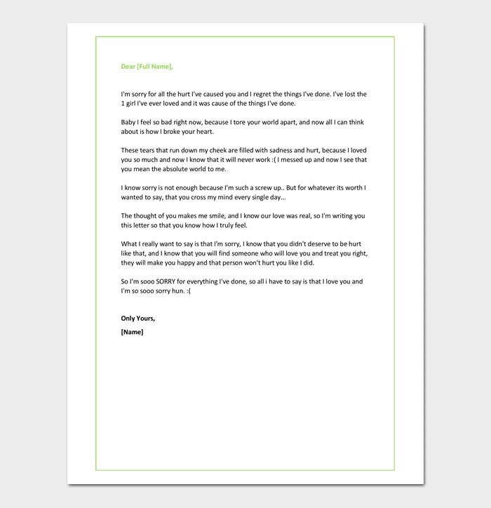 Apology Letter for Cheating Useful Sample Letters