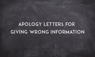 Apology Letter for Giving Wrong Information - Sample Letters