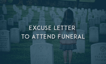 excuse letter to attend funeral sample letters