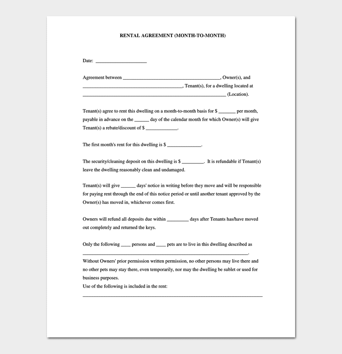 euromillions syndicate agreement template - simple month to month rental agreement form gallery