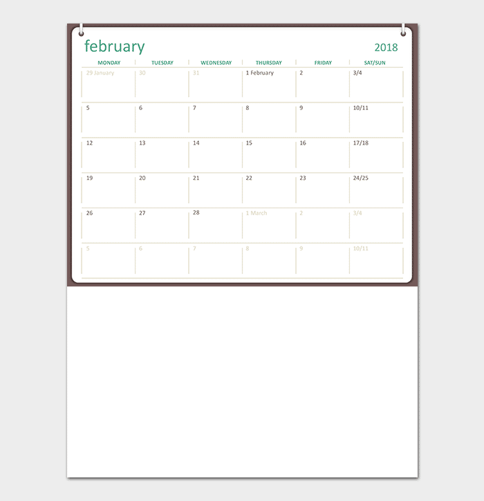 Powerpoint Calendar Template | 40 Free Printable Calendar Templates For Word Powerpoint Excel