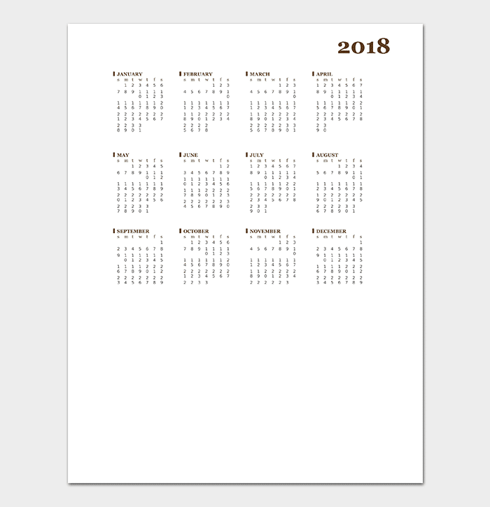 40+ Free Printable Calendar Templates (For Word, PowerPoint & Excel)
