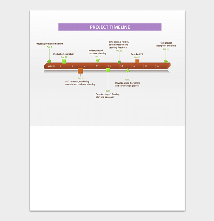 Business Timeline Template For Word PowerPoint PDF Excel - Business plan timeline template