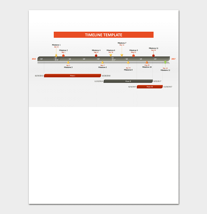 Business Timeline Template For Word PowerPoint PDF Excel - Business timeline template