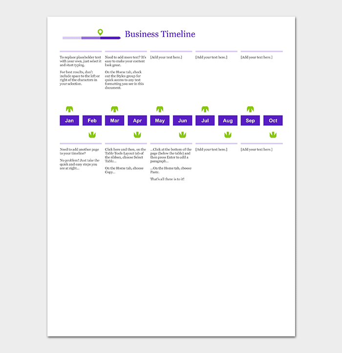 Business timeline template 15 for word powerpoint pdf excel linear business timeline template flashek Choice Image
