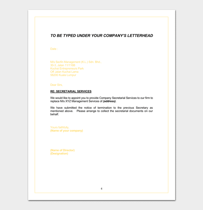 Agent appointment letter template 14 sample letters agent appointment letter for tax sample spiritdancerdesigns Images